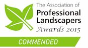 Association of Professional Landscapers Best UK Garden Design and Build Commended Award 2015