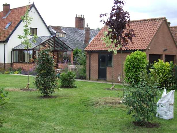 Case Study - Creating the instant established Garden with shrub and tree planting