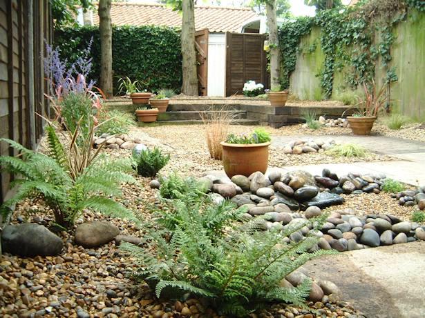 Mediteranean gardens on pinterest mediterranean garden for Very low maintenance garden ideas