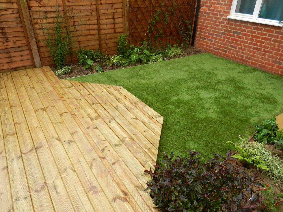 Completed garden designs landscaping garden maintenance for Low maintenance deck plants