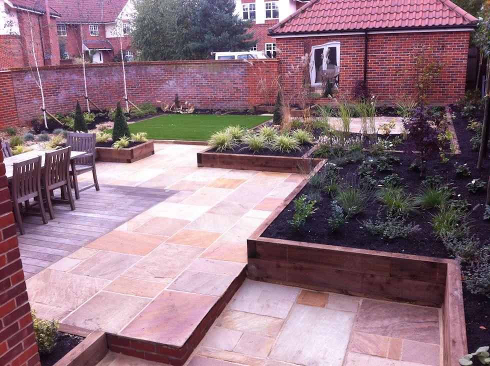 Completed garden designs landscaping garden maintenance for Garden decking norwich
